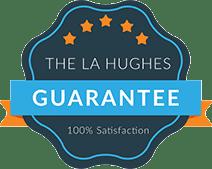 L A Hughes guarantee logo